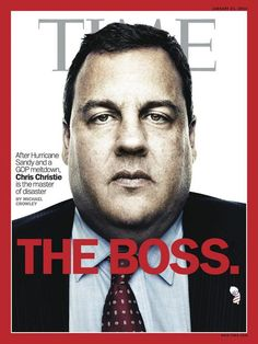 Time's new cover, dropping on Friday  On the cover: New Jersey governor Chris Christie  Design director: D.W. Pine