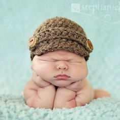 Items similar to Newborn Newsboy Baby Hat in Barley Color with Handcrafted Wooden Buttons on Etsy Chubby Babies, Little Babies, Cute Babies, 3rd Baby, Baby Boy, Grumpy Baby, Cutest Babies Ever, Cute Baby Pictures, News Boy Hat
