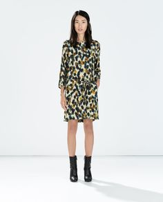 PRINTED DRESS WITH BACK ZIP-Printed-Dresses-WOMAN-SALE | ZARA United States