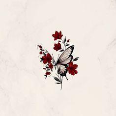 Red Ink Tattoos, Spine Tattoos, Flower Tattoos, Body Art Tattoos, Girl Tattoos, Tatoos, Little Tattoos, Small Tattoos, Hase Tattoos