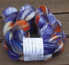 "Merino Bamboo Wool Roving - Hand dyed Spinning - Felt - Feltart - Fibers ""Luna Lovegood Harry Potter Saga"""