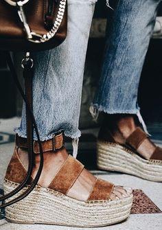 65254e56faeb brown suede platform espadrille sandals Sock Shoes