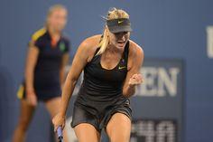 Maria Sharapova (RUS) [3] defeated Lourdes Dominguez Lino (ESP) 6-0, 6-1 on day 3 of the US Open. - Rob Loud/USTA