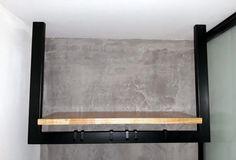 Półka i wieszak na ubrania w jednym. Montaż bezpośrednio na suficie. Prosta konstrukcja i wygląd.  Shelf and clothes hanger in one. Mounting directly on the ceiling. Simple design and look.   Plank en kleerhanger in één. Montage direct aan het plafond. Eenvoudig ontwerp en uiterlijk.  #staal #interiordesign #inspiratie #industrialdesign #decoindustrielle #fineinteriors #interiors #loft  #design #homedecor #customsteel  #minimaldesign Loft Design, Minimal Design, Plank, Industrial Design, Clothes Hanger, Simple Designs, Shelf, Ceiling, Interiors