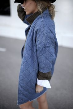 Happily Grey   DENIM THING   http://www.happilygrey.com CURRENT/ELLIOTT The Quilted Car Coat