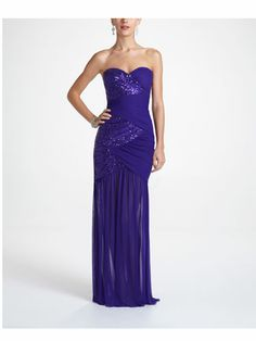 Strapless Ruched Illusion Prom Dress