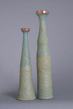Candlesticks by 'Muddy Creek Pottery'