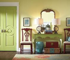 #Painted #doors are a great way to add color without committing to painting a whole wall in a #boldcolor.