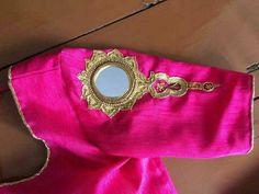 Pinterest: @LAFEMME Blouse Desings, Hand Work Design, Mirror Work Blouse, Hand Work Embroidery, Indian Blouse, Designer Blouse Patterns, Blouse Models, Traditional Fashion, Saree Blouse Designs