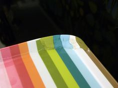 Seamlessly repair a broken melamine tray using colour-matched sugru