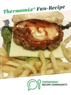Recipe Beef Burgers by Thermie With Me, learn to make this recipe easily in your kitchen machine and discover other Thermomix recipes in Main dishes - meat. Yummy Treats, Yummy Food, Beef Burgers, Recipe Community, Meat Recipes, Yummy Recipes, Food N, Carne, Main Dishes
