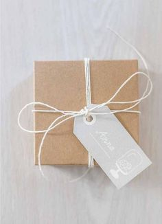 twine and craft paper is all you need #giftwrap #holidayissuu