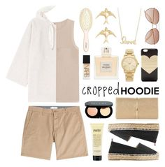 """Cashmere Cropped Hoodie"" by lgb321 ❤ liked on Polyvore featuring L. Erickson, Joseph, Closed, Brunello Cucinelli, Castañer, Balmain, J.Crew, Michael Kors, Conroy & Wilcox and Bobbi Brown Cosmetics"