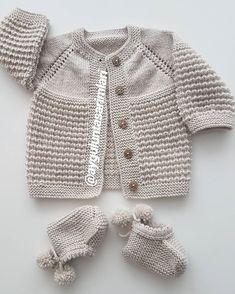 Diy Crafts - Image of Rillo Og Hyggen Str. Baby Boy Knitting Patterns, Baby Cardigan Knitting Pattern, Knitted Baby Cardigan, Hand Knitted Sweaters, Baby Patterns, Knitted Coat, Knit Hat Pattern Easy, Quick Knits, Crochet Clothes