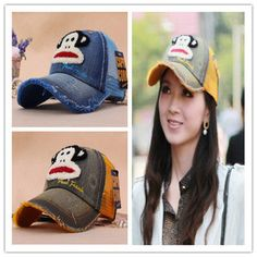 Women autumn and winter Korean version of the fall and winter cap  breathable baseball cap the new mouth monkey mesh cap hat Ms. hat fall and  winter hat 2b7f3f8363ff