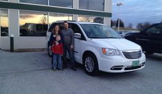 Bernard and Crystal's new 2015 CHRYSLER TOWN & COUNTRY! Congratulations and best wishes from North Country Nissan and LOUIS YOUNG.