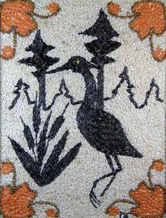 Ajijaak! Another shinob seed artist?! No way! Donald Carufel, Lac du Flambeau Ojibwe.