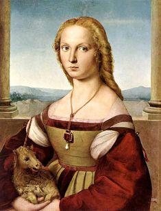 Рафаэль Санти. Дама с единорогом (1505)