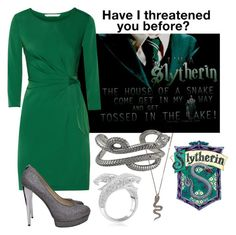 """Harry Potter Houses - Slytherin"" by nika-love ❤ liked on Polyvore"