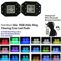 Night Break Light 16W CREE Flush Mount LED Pods Spot Lamp...