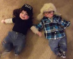 Wayne's World / Wayne and Garth / Baby / Halloween Costume / Guys with Kids. HILARIOUS