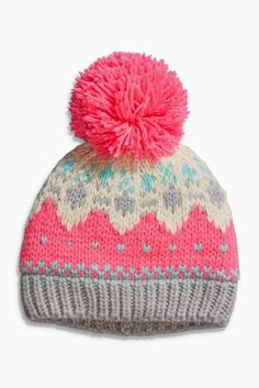 1688cc6671c Buy Pink Fairisle Beanie (Younger Girls) from the Next UK online shop