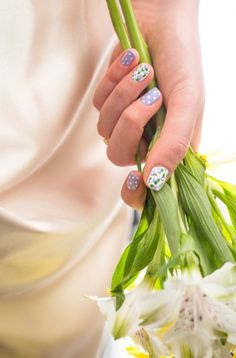 Wedding Nail Art: Garden Party Polka Dots