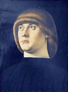 Jacometto - Portrait of a young man [1490-95]