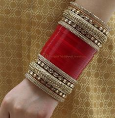 Fulfill a Wedding Tradition with Estate Bridal Jewelry Bridal Bangles, Wedding Jewelry, Chuda Bangles, Wedding Chura, Wedding Lehnga, Punjabi Traditional Jewellery, Bridal Chuda, Bangle Set, Indian Bridal