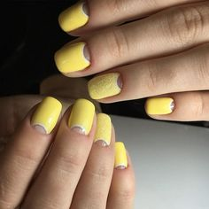 Have your nails look sun kissed with yellows! A perfect looking yellow themed nail art for the summer that has both a plain and frosted effect on the nails.