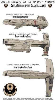 Battle Cruisers of the Galactic Alliance by MarcusStarkiller on DeviantArt