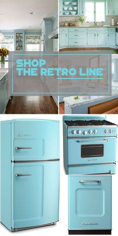 Luxury Lifestyle : Big Chill retro appliances over 200 colors to choose from. Inspired by beach b Retro Kitchen Appliances, Kitchen Appliance Storage, Retro Fridge, Home Appliances, Retro Kitchens, Smeg Fridge, Kitchen Gadgets, Bosch Appliances, Electrical Appliances