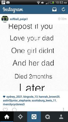 I really love my daddy!
