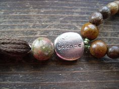 Balance/Yoga/Meditation Prayer Beads/ Mala by TheReflectivePause, $25.20