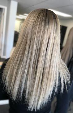 Blonde hair painting balayage ashy blonde