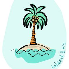 Doodling a palmtree...trying out a new app on my Iphone: Adobe draw. #hulsbeekenko #365doodleswithjohannafritz #illustration #illustratie #palmtree