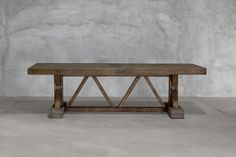 trestle dining table built using salvaged old doors and beams- bungalow classic