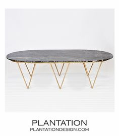 Saber Gold Coffee Table | Black Marble