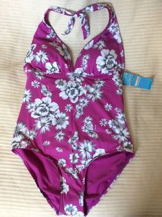 M&S Woman Ladies Swimsuit UK16 BNWT soft foam padded removable cups