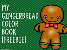This FREE product contains 10 half sheets that can be used to teach and/or reinforce colors.To prepare: Print one book set for each student (pages 3-7).  Cut the pages in half on the dotted line.  Stack the pages in numerical order and place the title page on top.To use: Color the gingerbread men to match the sentence on each sheet.