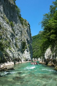 Rafting in Neretva River Canyon, Bosnia and Herzegovina.  want to white water raft with my family