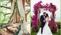 decoracion del altar en una boda civil