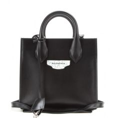 Balenciaga Padlock Nude Mini All Afternoon Leather Tote ($1,250) ❤ liked on  Polyvore featuring