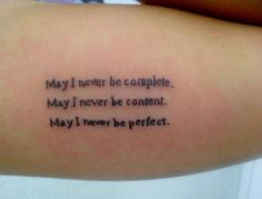 A quote from my favorite book/movie, Fight Club.  Done at JR Tattoo, Minas Gerais/Brazil.