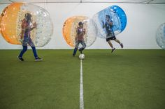 AT Bubble Soccer is located less than a block north of Steeles Ave. in Vaughan. Amidst rather uniform warehouses and strip malls, the indoor sports facility lets players take soccer to the extreme as they run around the field dribbling, kicking and toppling over.  For the past little while, bubble soccer...