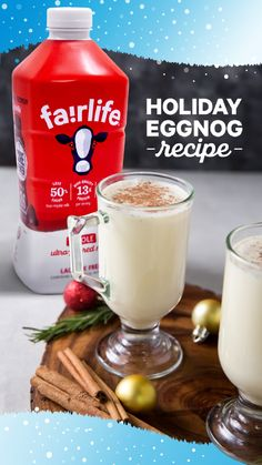 Is any holiday complete without eggnog? Try our recipe here featuring fairlife ultra-filtered milk for a smooth and rich flavor. Mojito Recipe, Sangria Recipes, Margarita Recipes, Smoothie Recipes, Smoothies, Apple Recipes, Holiday Recipes, Sauce Recipes, Chicken Recipes