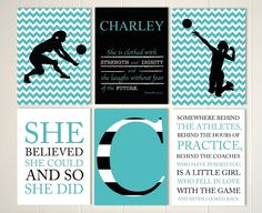 volleyball girls art volleyball room decor volleyball player girls sports quote art choose your sports and colors set of 6 prints. beautiful ideas. Home Design Ideas