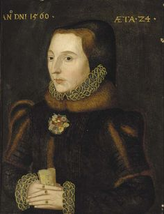 "1560_Unknown Lady ""Portrait of a Lady"" Aged 24.  Artist: Follower of Hans Eworth.  Christies."