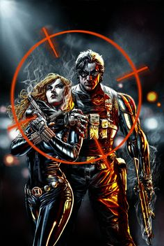 Natasha Romanoff & Bucky Barnes by Lee Bermejo.