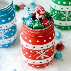 Christmas Sweater Kisses Mason Jar
